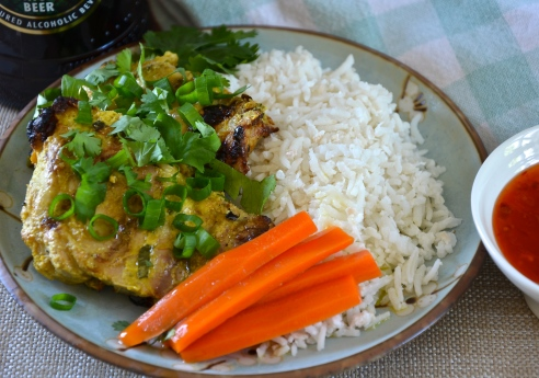 Thai Grilled Coconut Curry Chicken