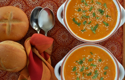 Coconut-Ginger Carrot Soup