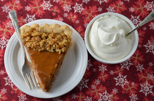 Pumpkin Pie with Walnut-Orange Trim