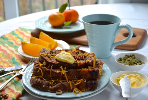 Orange Cardamom, Panettone French Toast