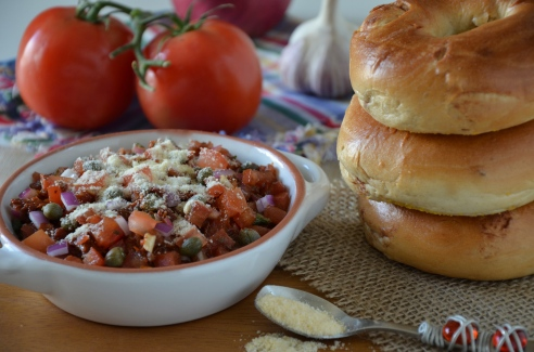 Bruschetta with Sun-Dried Tomatoes and Capers