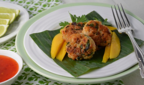 Cilantro Crab and Shrimp Cakes