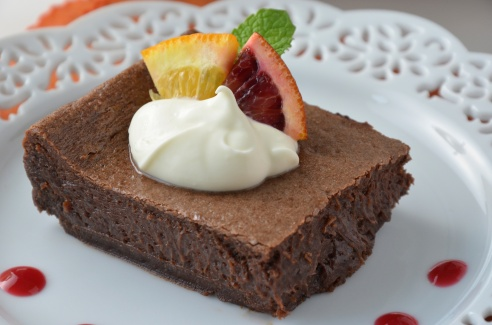 Blood Orange, Balsamic Brownies