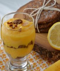Lemon Curd, Gingersnap Dessert