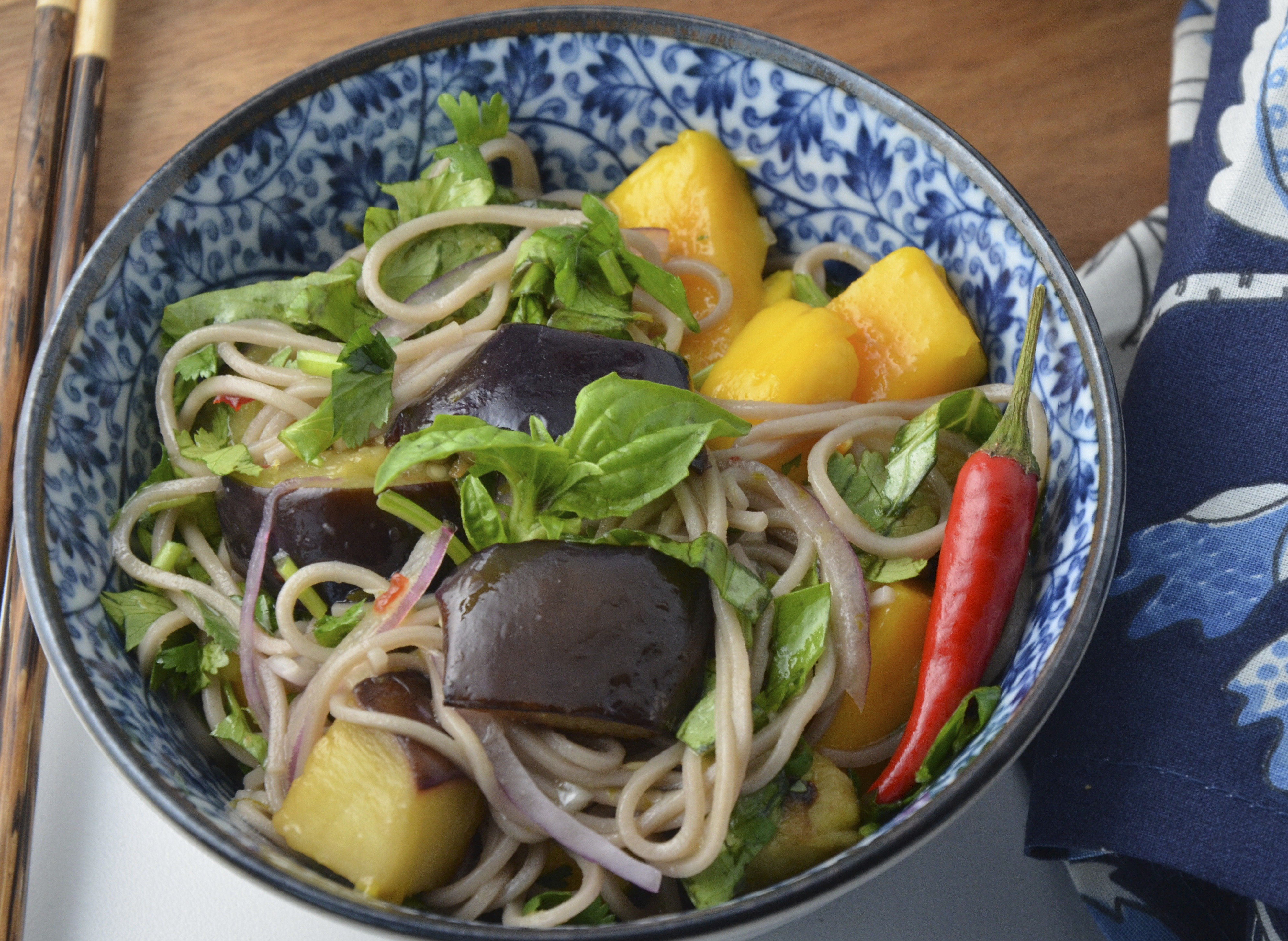 ... soba noodles soba noodles with mango and soba noodles with eggplant