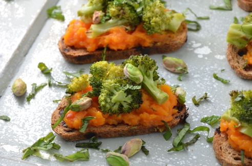 Spiced Yam and Broccoli Appetizer