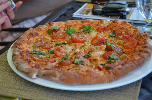 Hmmm…should we have the wood-oven pizza?