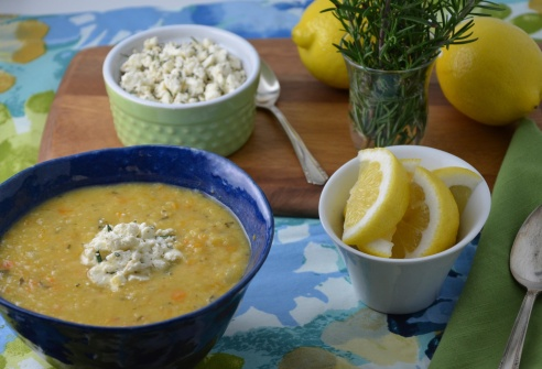 Fresh herbs are the game-changer in this soup!
