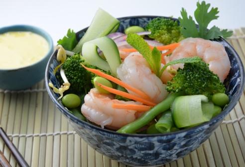 Citrus Prawn Noodle Salad