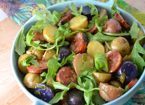 Roasted Potato and Chorizo Salad