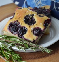 Blueberry Rosemary Focacccia