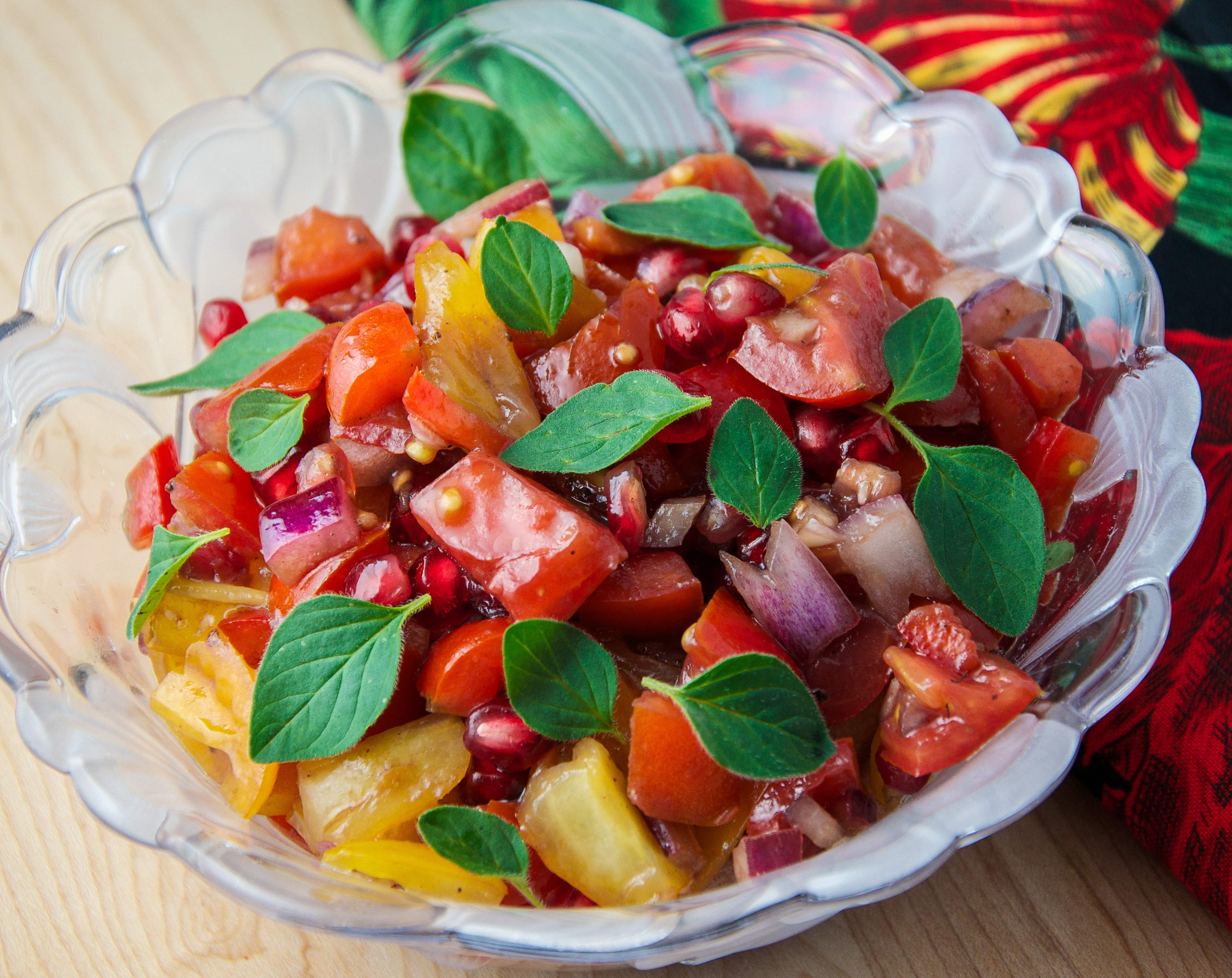 Tomato and Pomegranate Salad | Foodie On Board