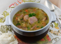 Split Pea Soup with Kielbasa