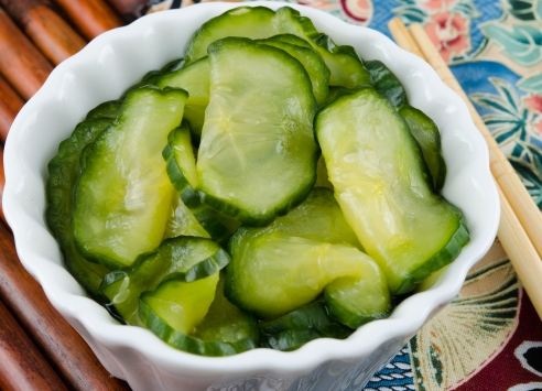 Cucumber Pickles.  Perfect with this curry!