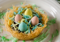 Kataifi Easter Nests