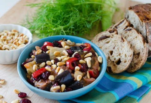 Caponata with Fennel and Pine Nuts
