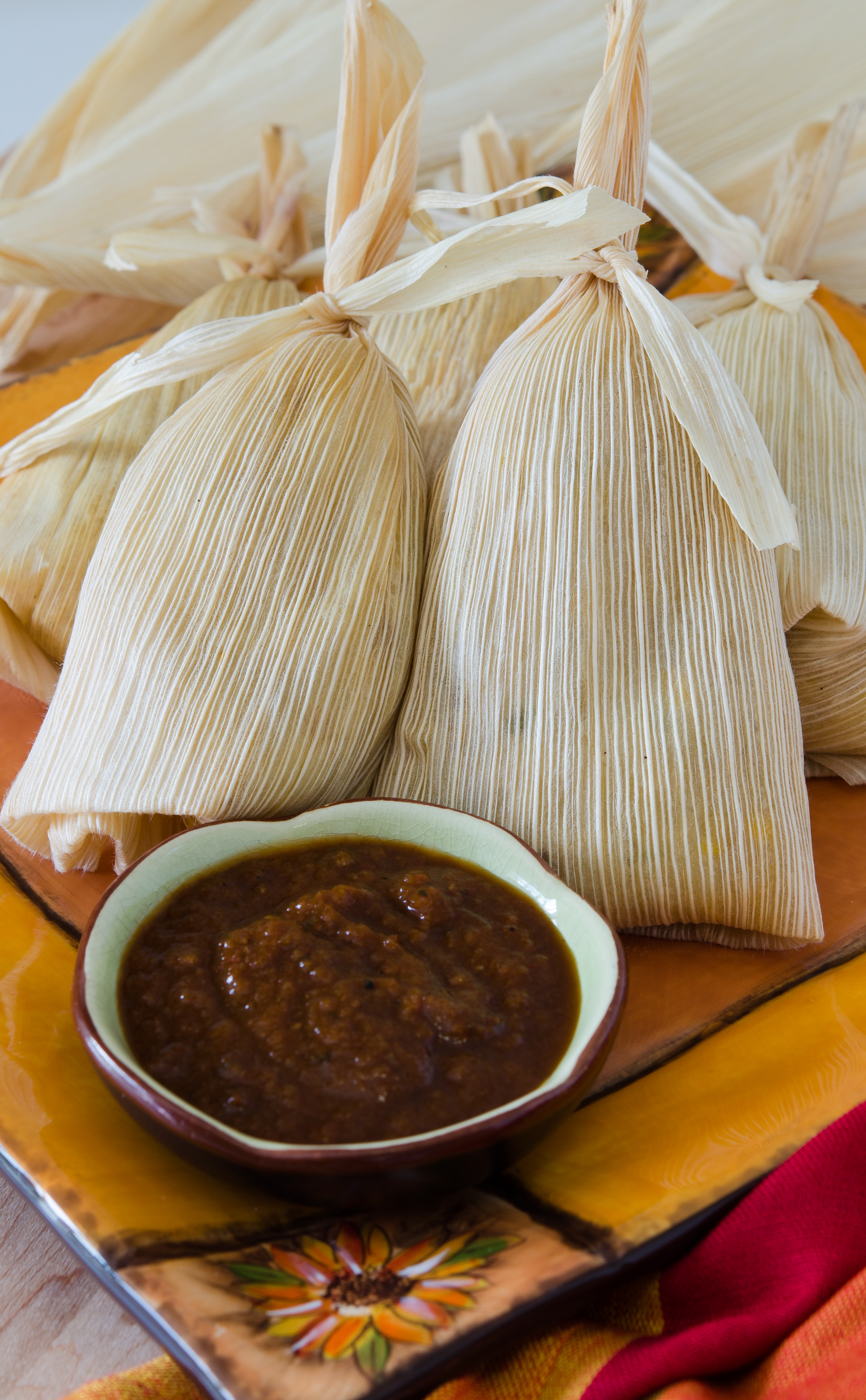 Pork Carnitas Tamales with Manchamantel Sauce Foodie On Board