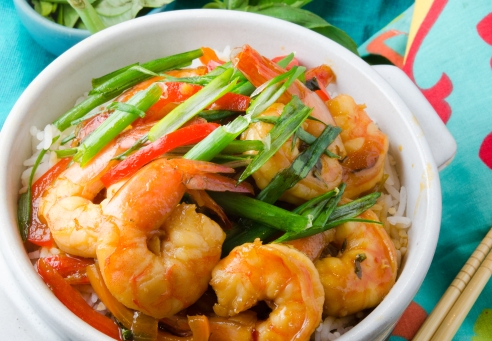 Bourbon makes the sauce sing, and the prawns dance! Party on!