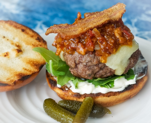 Burgers with Bacon Bourbon Jam…. Simply the Best!