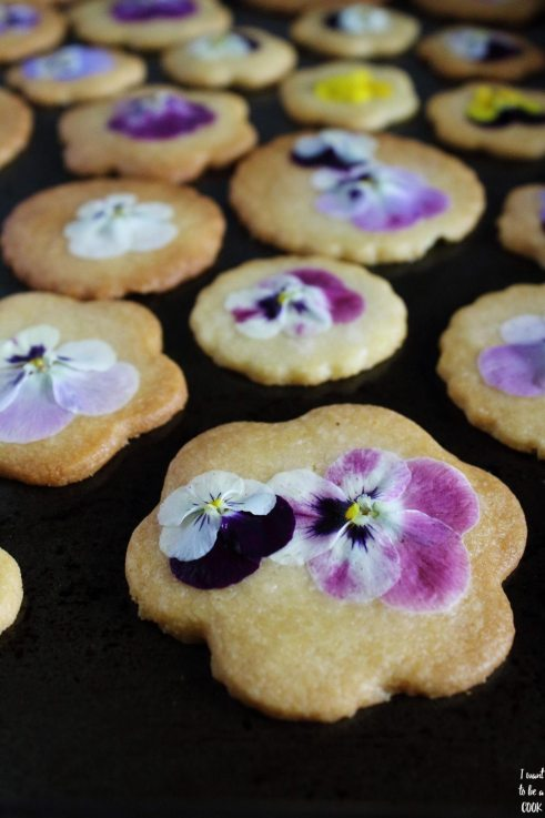 Shortbread Flowered Biscuits