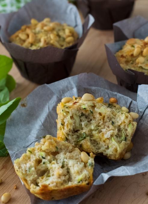 Zucchini, Parmesan & Basil Muffins