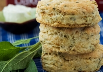 Brown Butter, Sage and Goat Cheese Biscuits